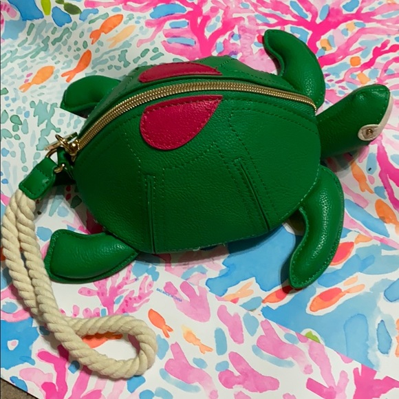 Betsey Johnson Handbags - Turtle-y-awesome wristlet